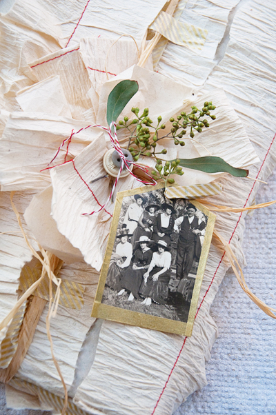 DIY Gift Tag from Vintage Photo