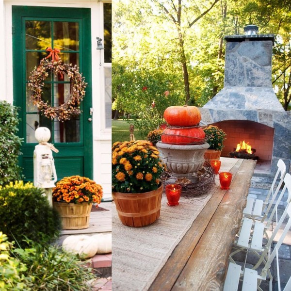 Farmhouse Style Fall Decor Ideas