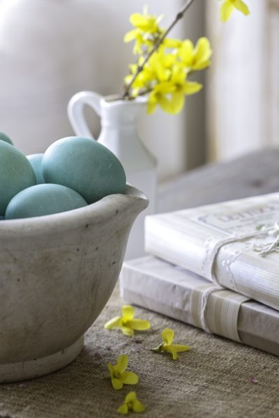 Naturally Dyed Blue Easter Eggs