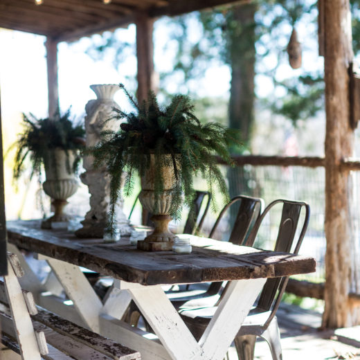 Simple rustic porch