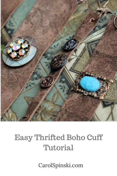 Easy Thrifted Boho Cuff Tutorial