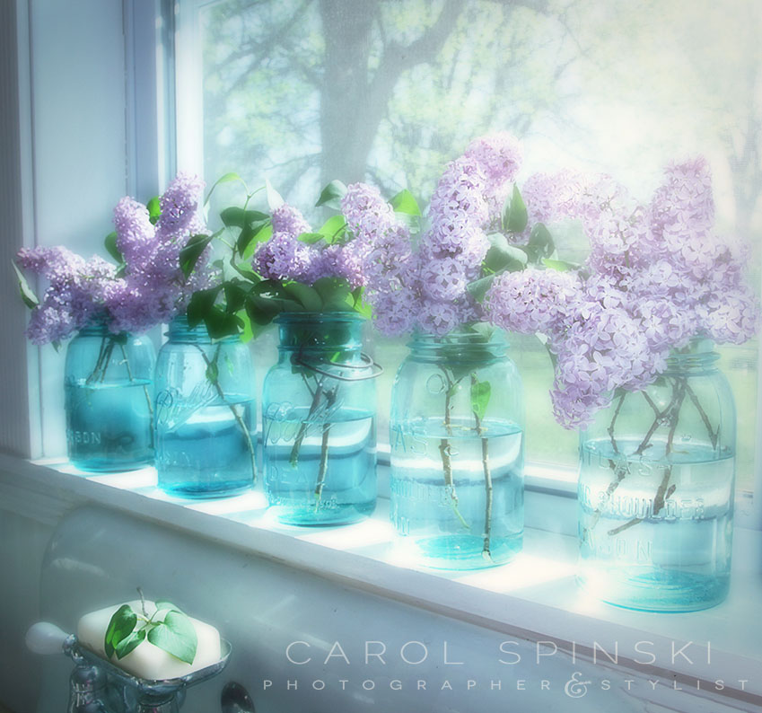 Lilacs on the windowsill Carol Spinski Photographer and Stylist