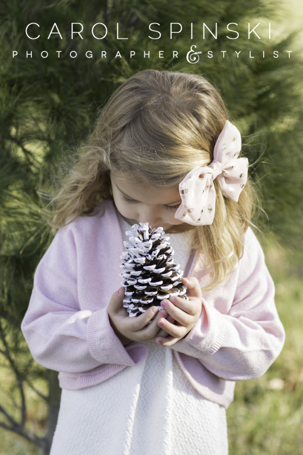 Pinecones and Little Girls