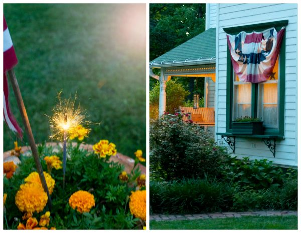 decorated farmhouse for the 4th of july